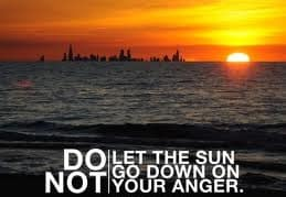Do not even be angry